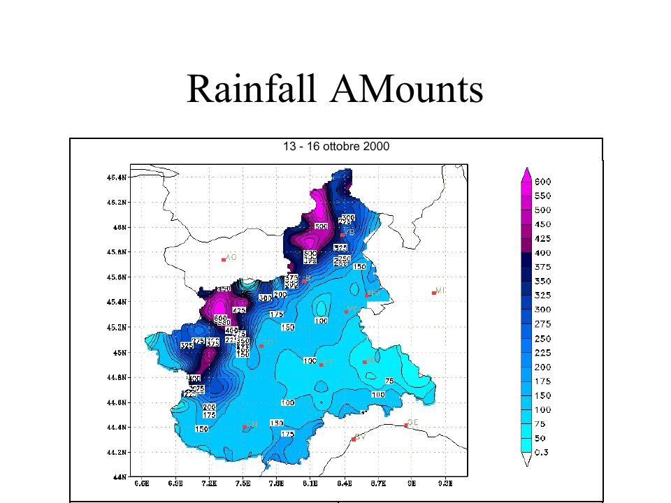 Rainfall AMounts