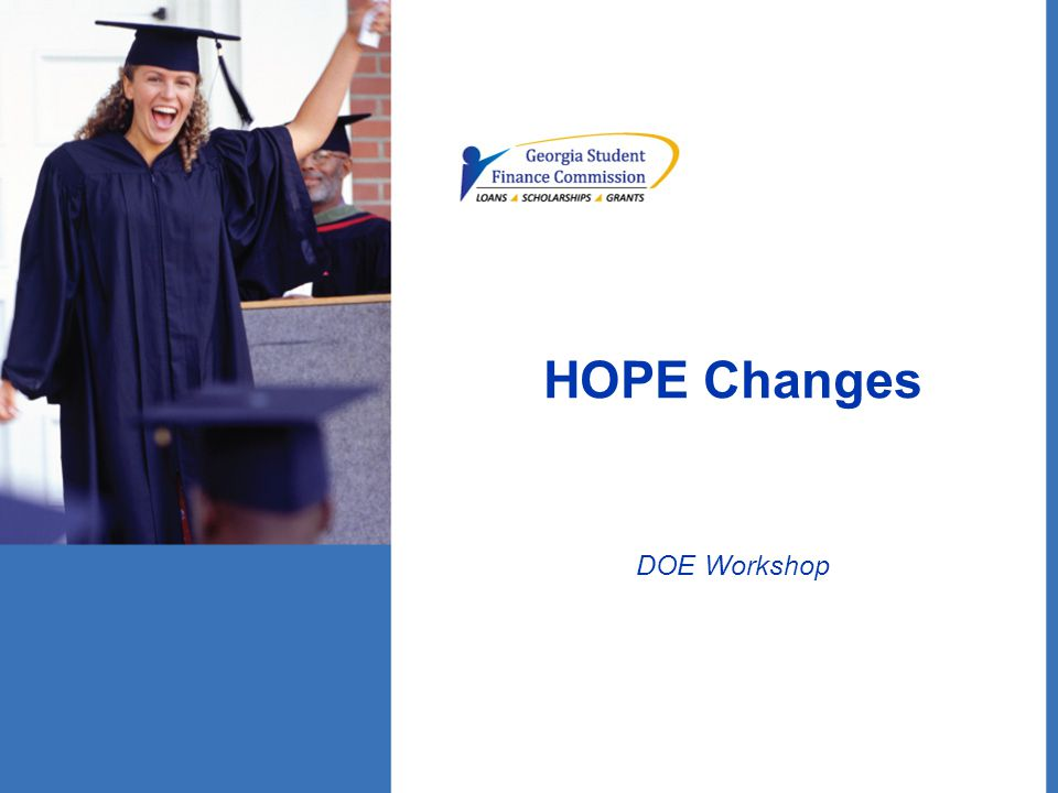 HOPE Changes DOE Workshop