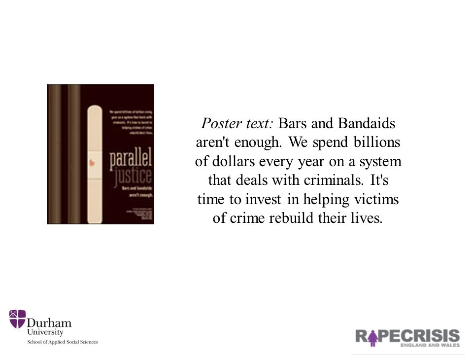 Poster text: Bars and Bandaids aren t enough.