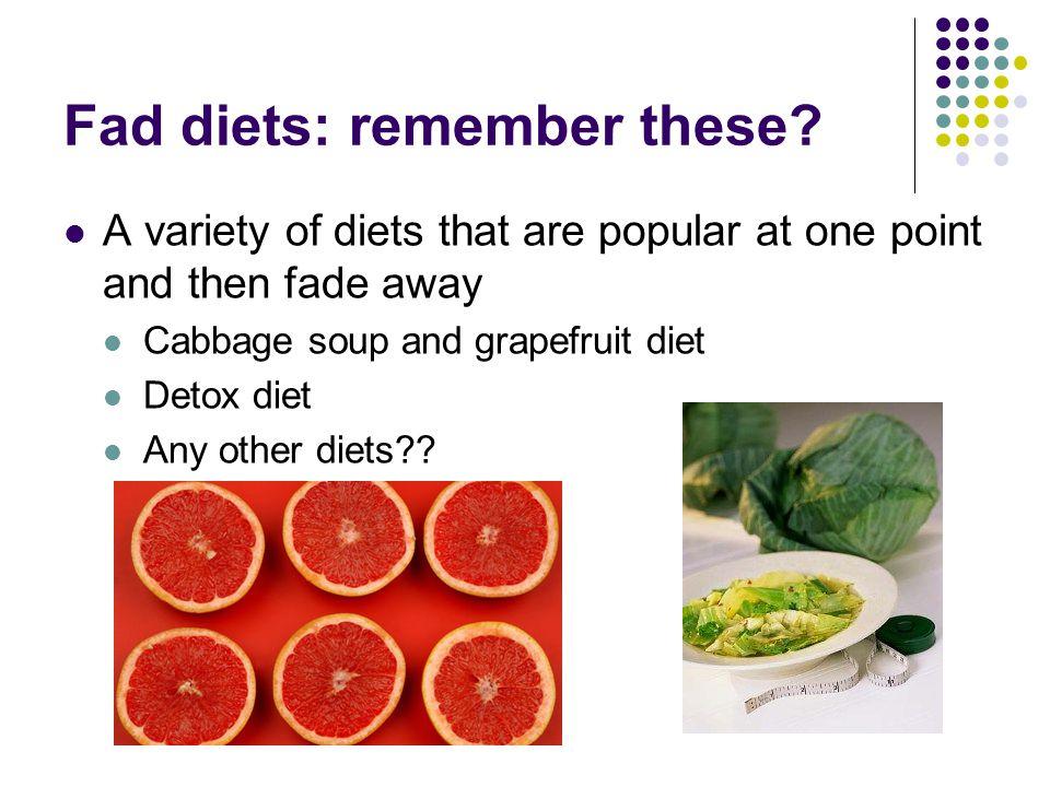 what describes a fad diet