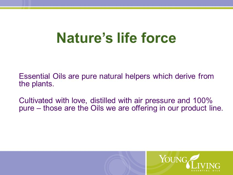 05/16/10  Young Living 15 Essential Oil blends Supporting