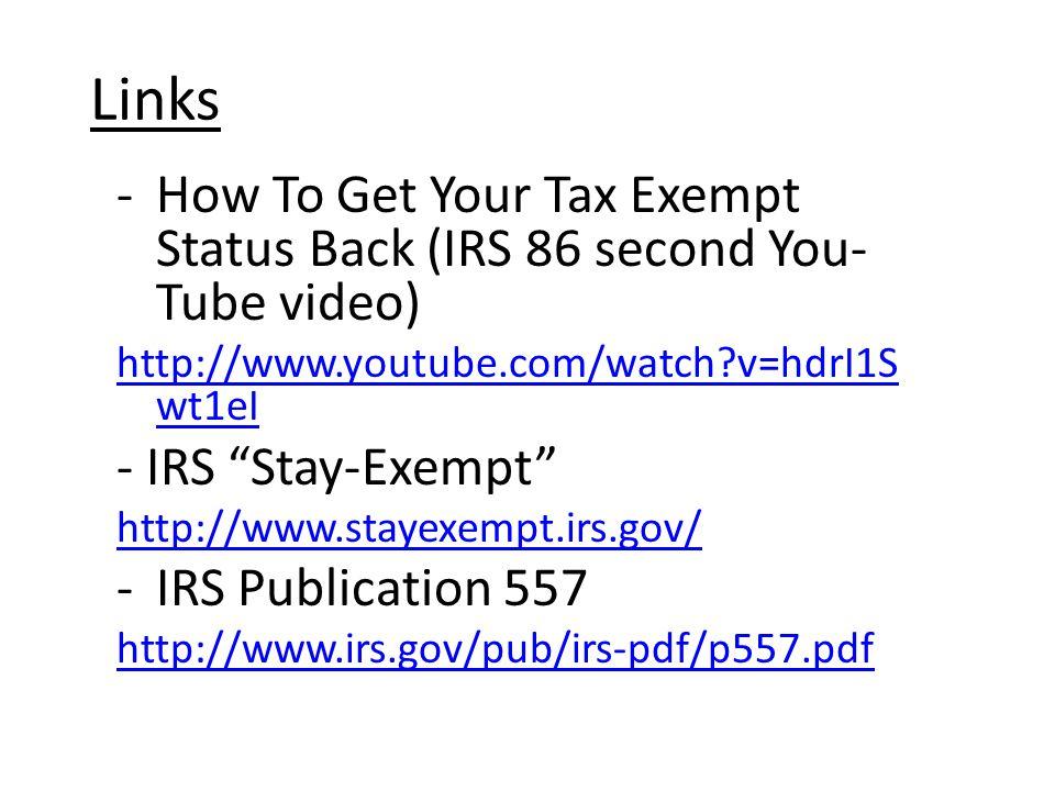 Regain Your Tax Exempt Status Sandy Deja Revised 111911 Ppt