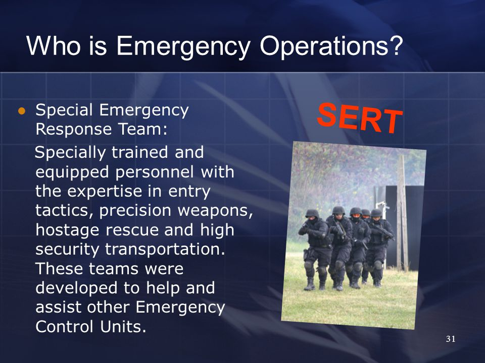 Who is Emergency Operations.