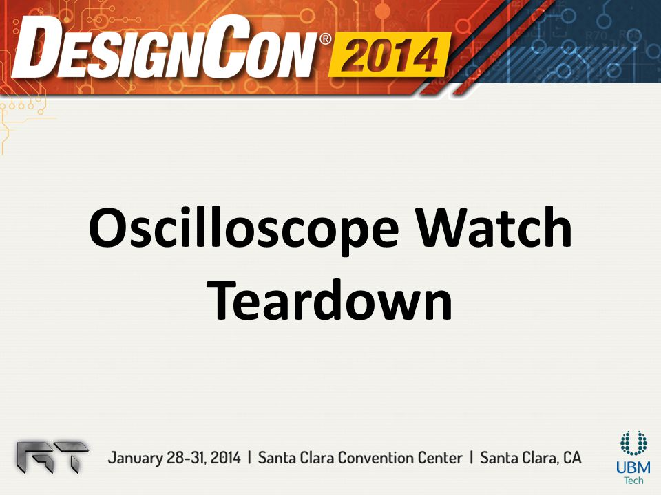 Oscilloscope Watch Teardown