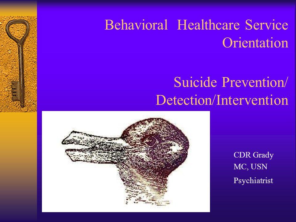 Behavioral Healthcare Service Orientation Suicide Prevention