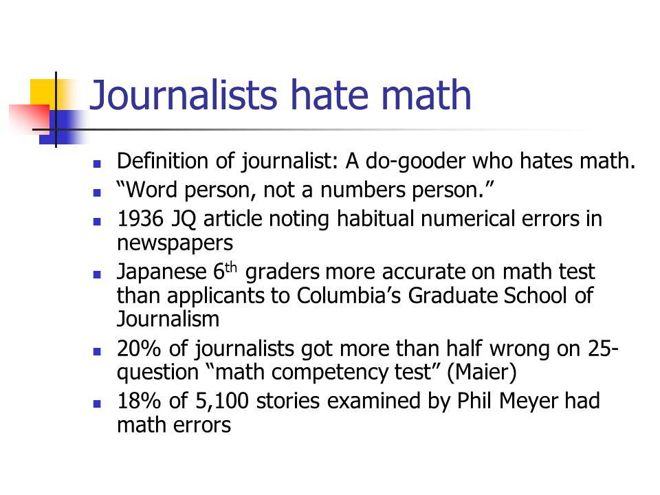 Newsroom math Prof  Steve Doig Cronkite School, ASU  - ppt download