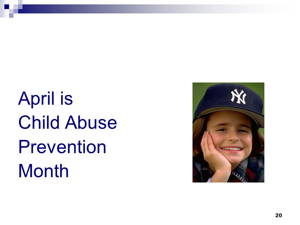 20 April is Child Abuse Prevention Month