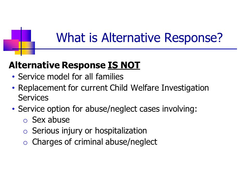 What is Alternative Response.