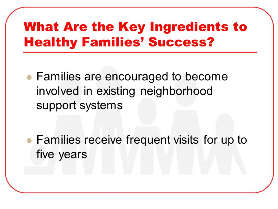 What Are the Key Ingredients to Healthy Families' Success.