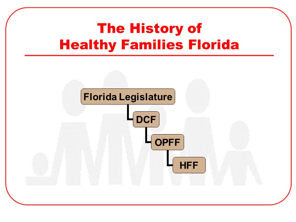 The History of Healthy Families Florida Florida Legislature DCF OPFF HFF