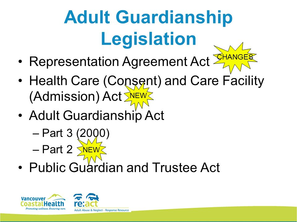 consent act Adult health care