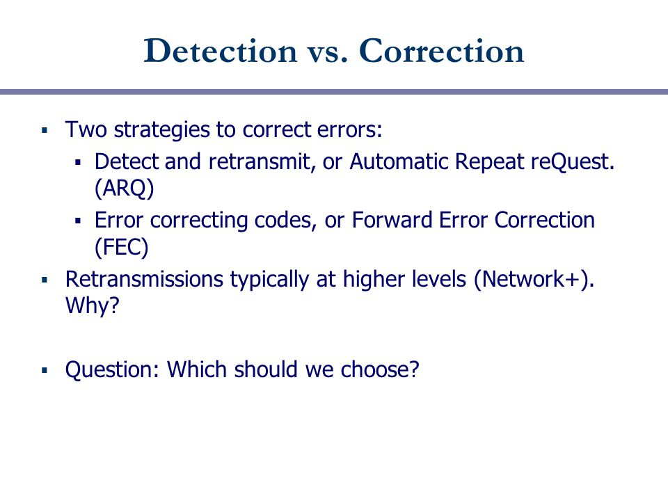 Detection vs.