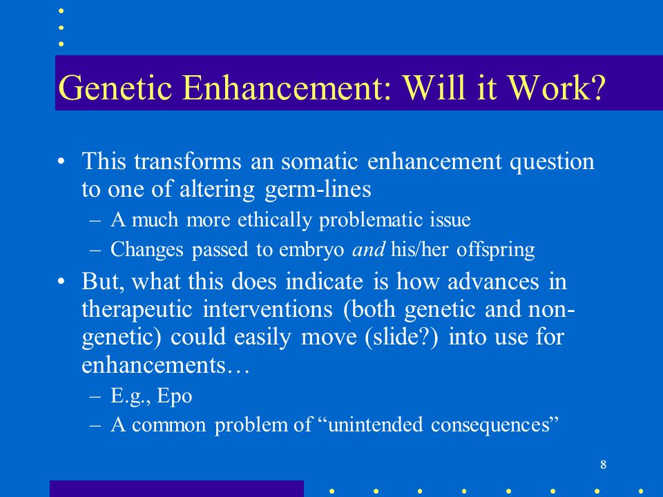 genetic enhancement and politics essay Japan has issued draft guidelines that allow the use of gene-editing tools in human embryos the proposal was released by an expert panel representing the country's health and science ministries on 28 september.