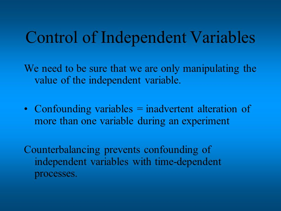 Operational Definitions The definition of a variable in terms of the operations the experimenter performs to measure or manipulate it.