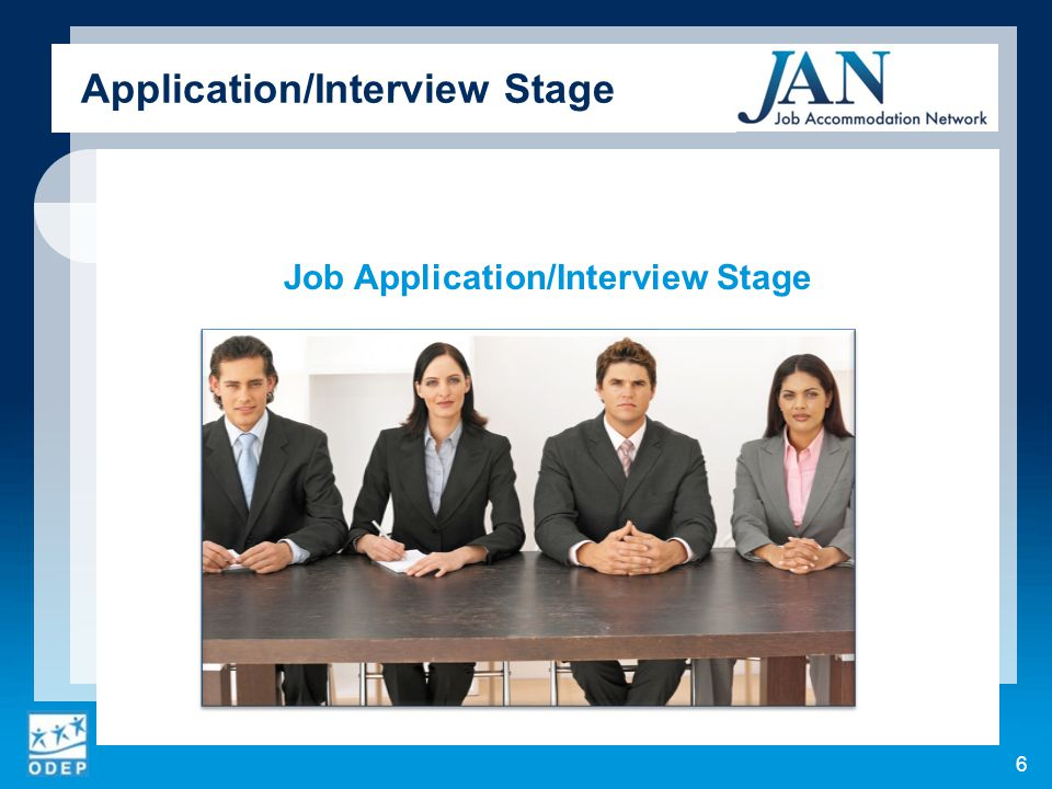 Job Application/Interview Stage 6 Application/Interview Stage