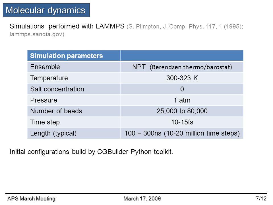 MOLECULAR DYNAMICS SIMULATION STUDY OF MULTIMERIZATION OF
