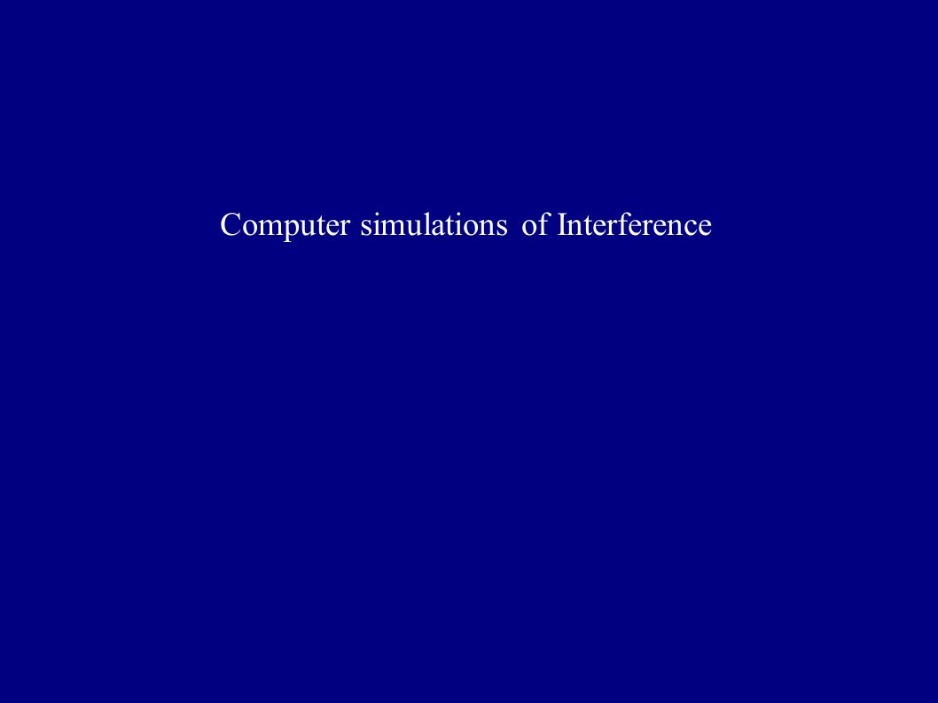 Computer simulations of Interference