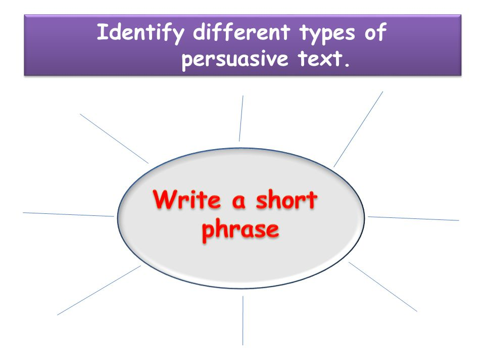 different types of persuasive texts