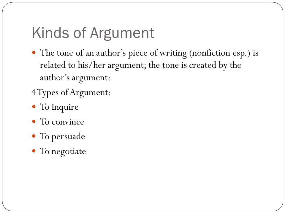 authors argument