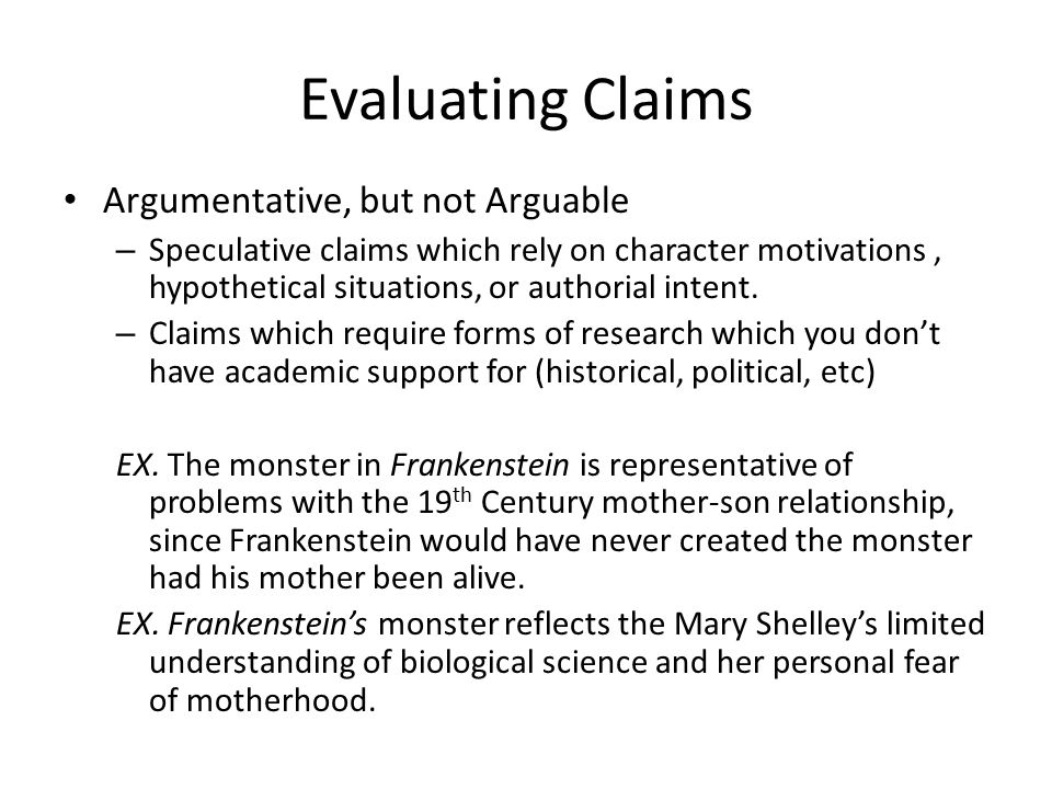 Claims! Constructing Argumentative Papers TS English/Fall
