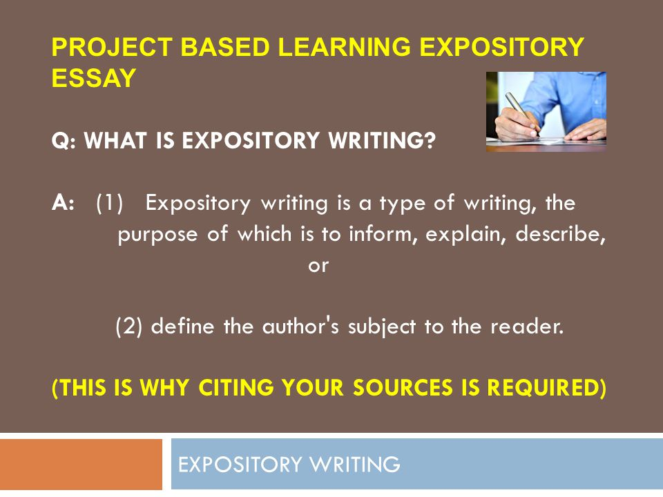 expository writing introduction Expository writing is writing that has a purpose of explaining, informing, or describing in other words, expository writing is about providing information to the reader about a particular topic or subject the purpose of expository writing differs from creative writing or persuasive writing the purpose is merely to inform-to provide information.