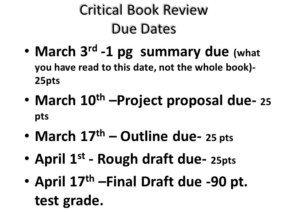 how to do a critical book review