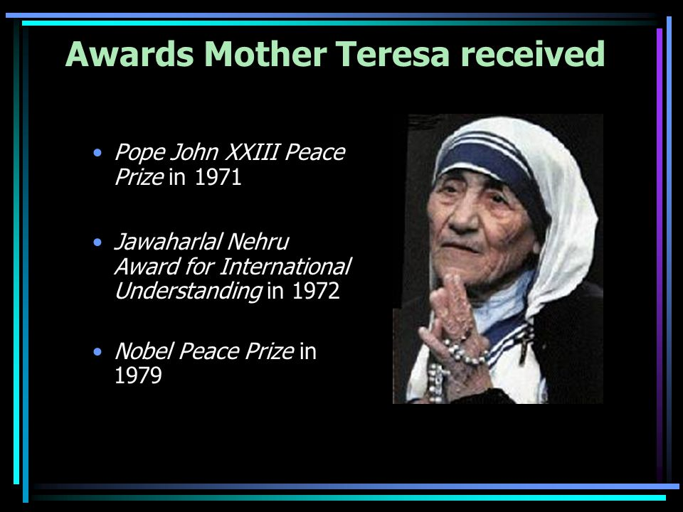 How many nobel peace prizes did mother teresa get
