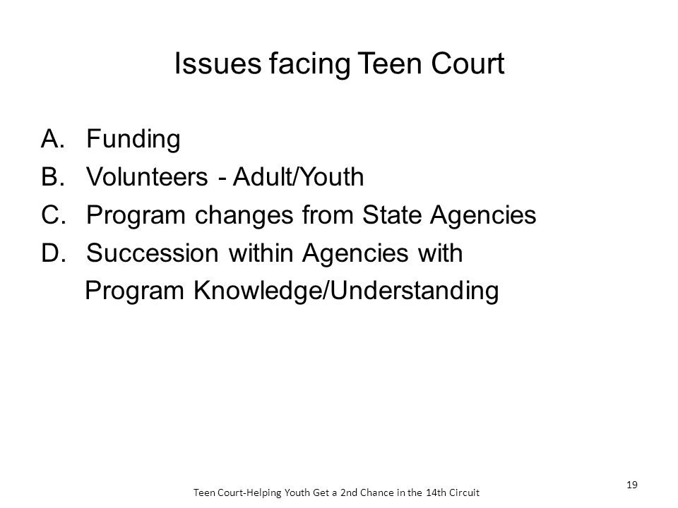 Agree, the Teen court print