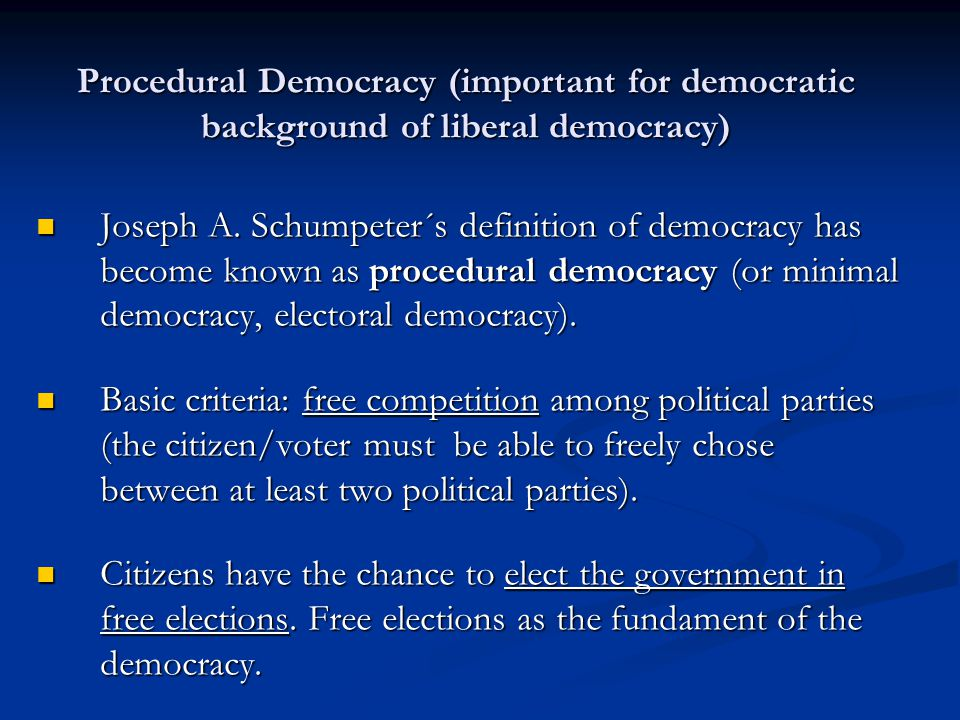 what is a procedural democracy