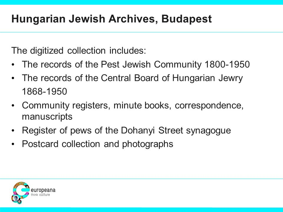 Integrated access to Jewish heritage collections Lena