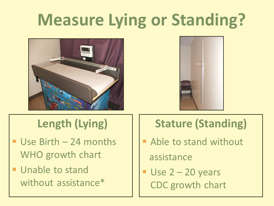 Measure Lying or Standing.