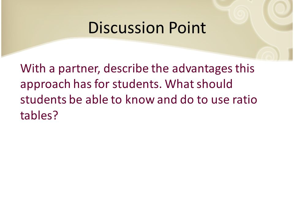 Discussion Point With a partner, describe the advantages this approach has for students.
