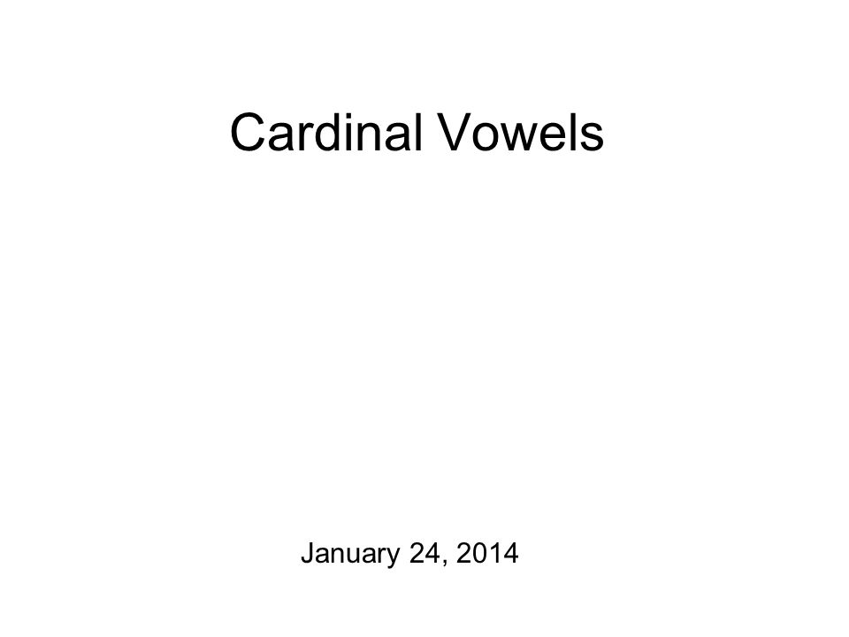 secondary cardinal vowels