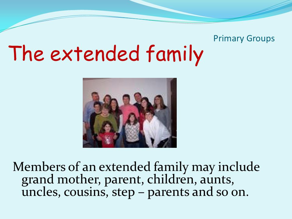 Types of Families The Nuclear family is two parent and their children.