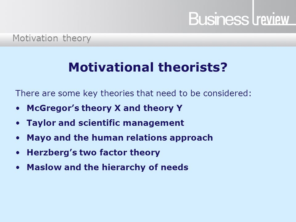 4 motivation theory motivational