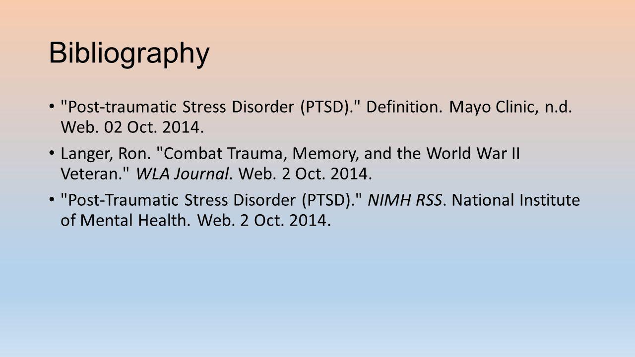 post-traumatic stress disorder (ptsd) david baugher, gordon hyduke