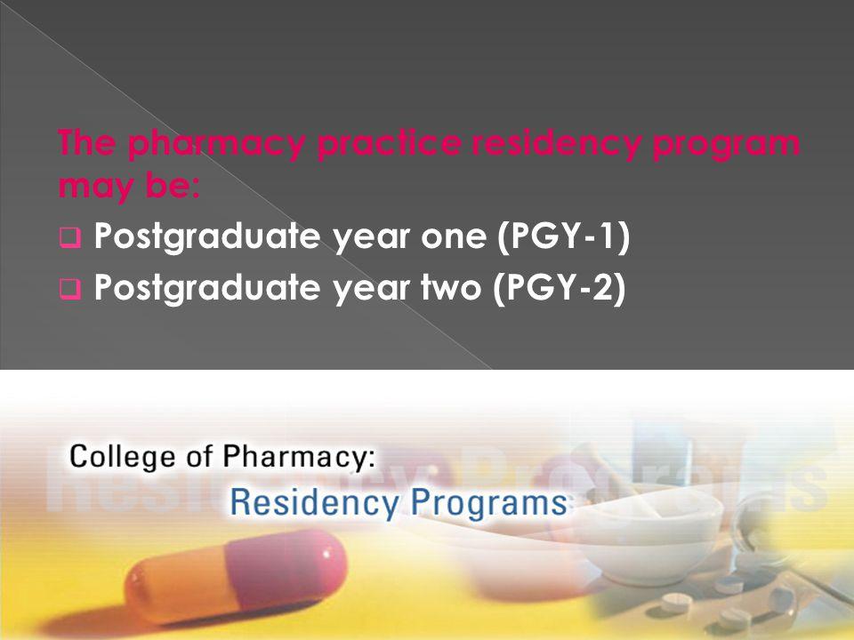To study :  pharmD  Residency  Fellowship  Internship