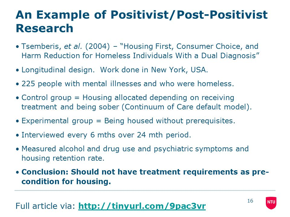 positivist research examples