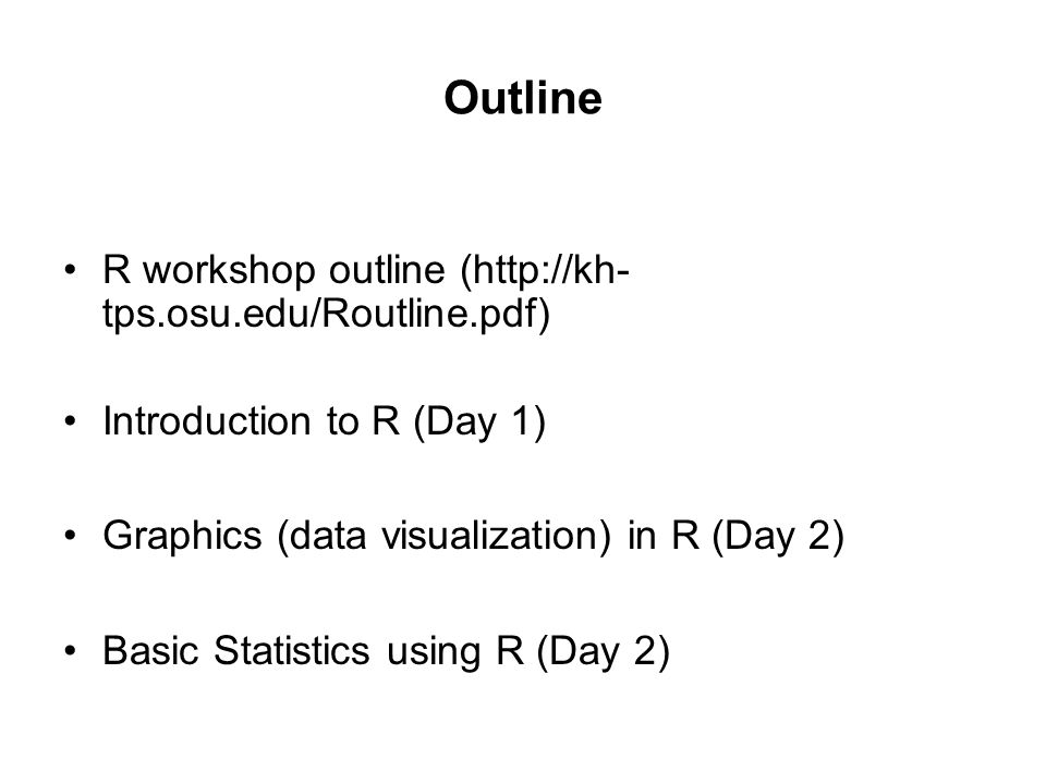 Introduction to R Workshop By Stephen O  Opiyo MCIC