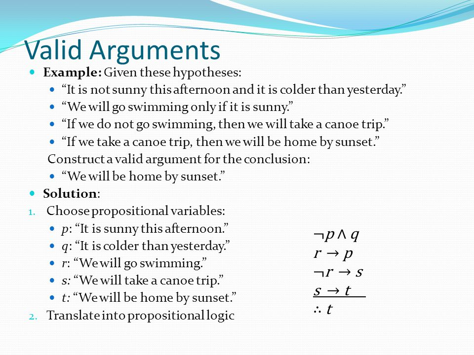 what is an argument in logic
