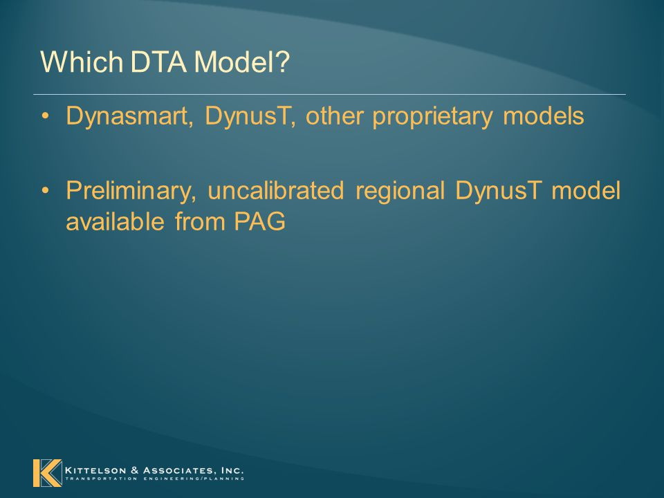 Which DTA Model.