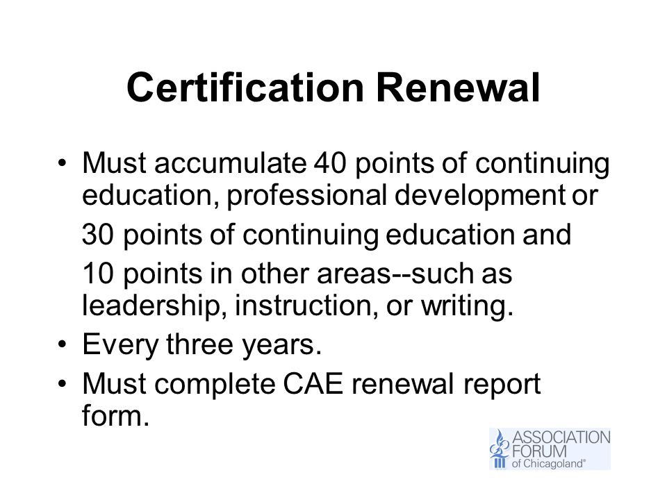 Cae Orientation So You Want To Be A Certified Association Executive