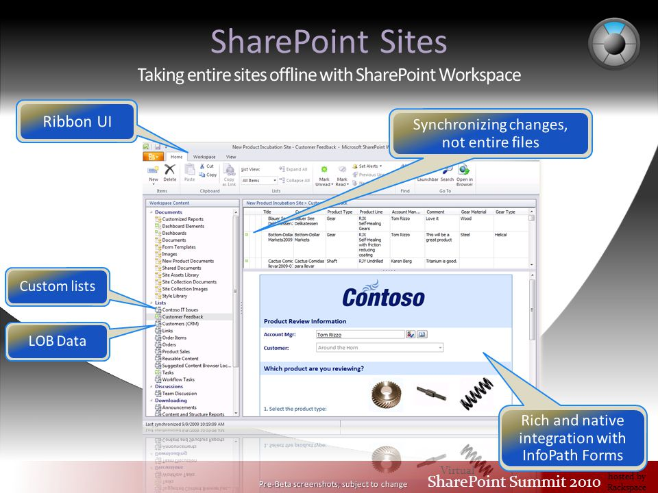 Virtual SharePoint Summit 2010 hosted by Rackspace