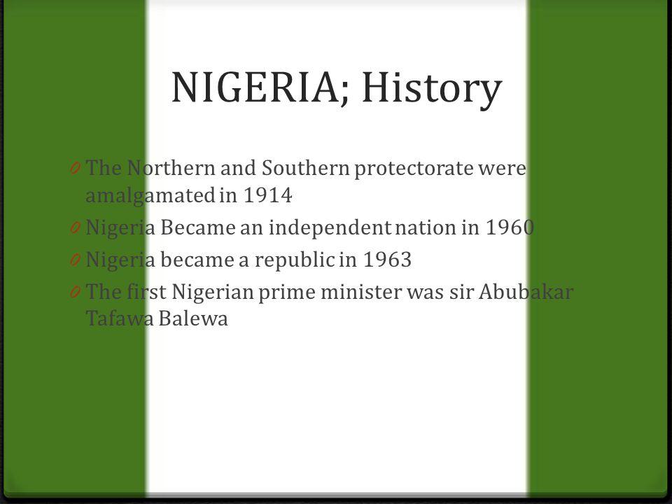 amalgamation of southern and northern nigeria