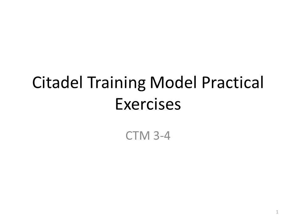 Citadel Training Model Practical Exercises CTM ppt download