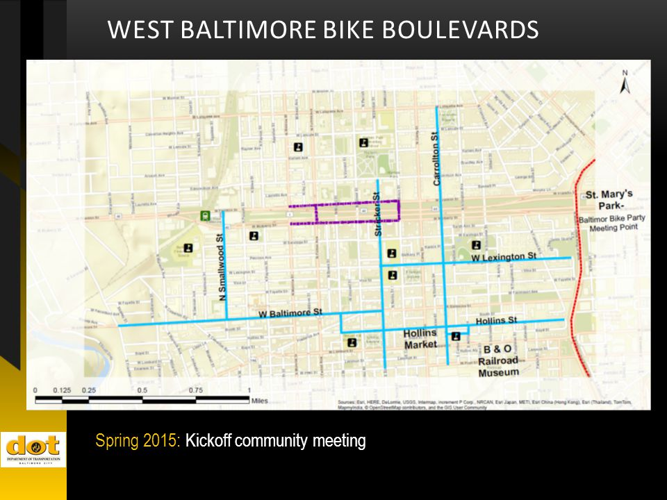 WEST BALTIMORE BIKE BOULEVARDS Spring 2015: Kickoff community meeting