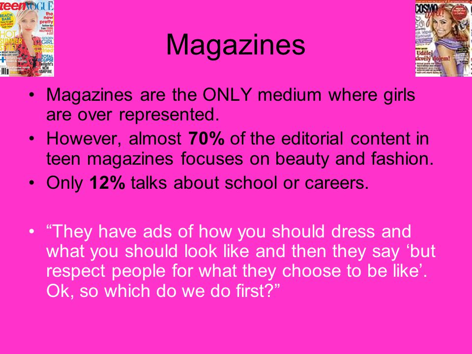representation of teenagers in the media