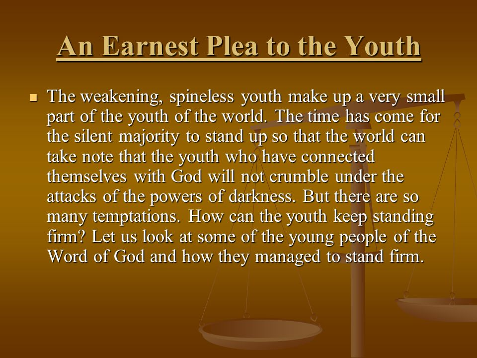 The Antitypical Youth Sermon By Kingsley Akrasi Scripture