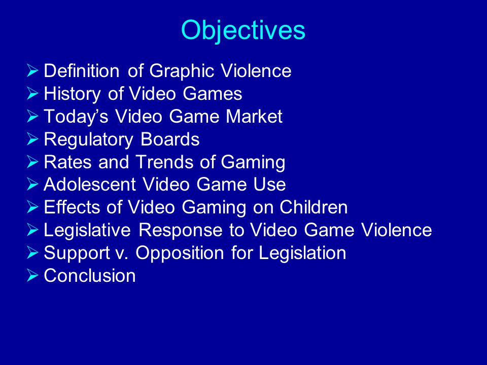 Should we prohibit minors from purchasing video games that