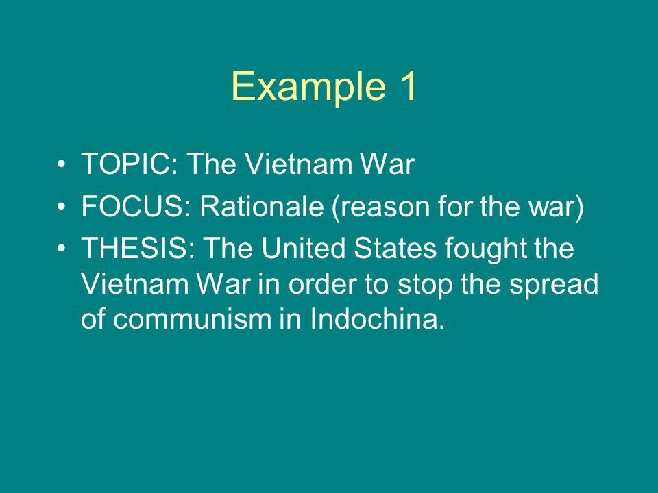 viet nam war thesis statement
